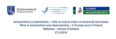 "Seminar in Helsinki: ""Antisemitism and islamophobia in Europe and Finland"""